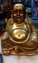 Brass Laughing Buddha