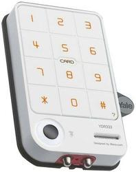 Card Key / Keypad Digital Door Lock White (Rim Lock)