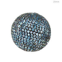 blue topaz gemstone bead ball finding