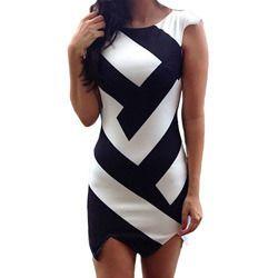 geometric print party wear