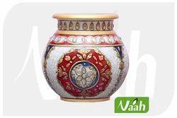 Vaah Marble Round Pot
