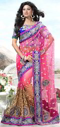 Designer Bridal Wear Net Saree