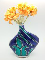 Enamelled Flower Vase