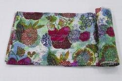 Cotton Kantha Tie Dye Bed Cover