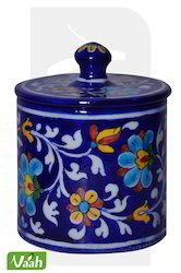 Vaah Blue Pottery Cotton Box
