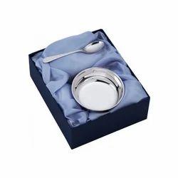 Silver Bowl Spoon Set