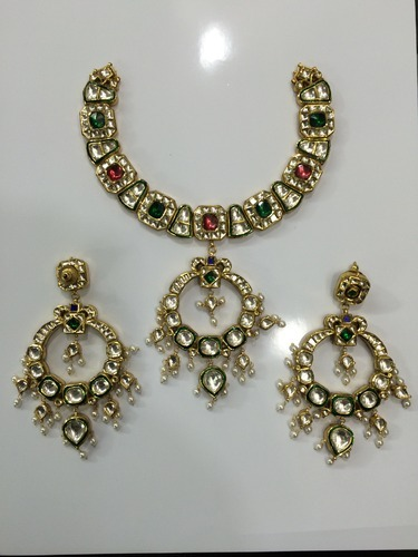 Gold Kundan Necklace set 22k 24K Gold Designer Kundan Necklaces