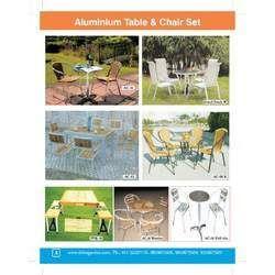 Aluminium Chair & Table Set
