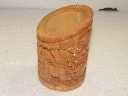 Kadam  Wood Carving Penstand