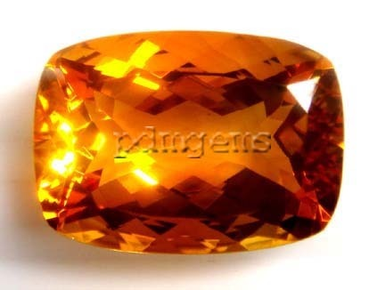 Citrine Faceted Cushion Gemstone