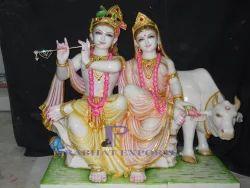 Jugal Marble Radha Krishna Idol