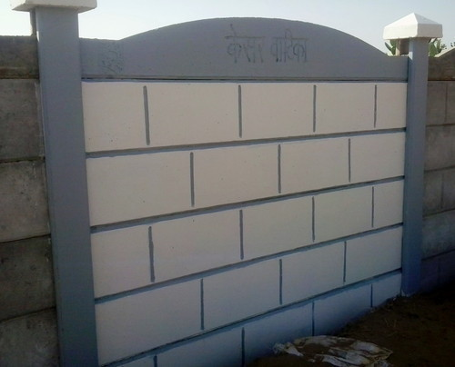 Ready Made Wall Compound : Compound boundary wall concrete rcc folding ready made