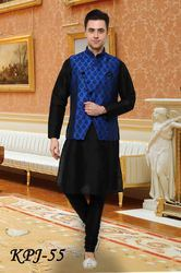 brocade kurta pyjama with jacket