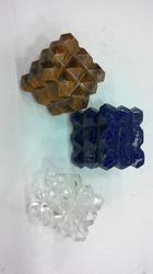 Natural Tiger, Lapiz And Clear Crystal 54 Pyramid