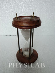 sand timer wooden finish