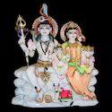 Lord Shiva Parvati Marble Statues