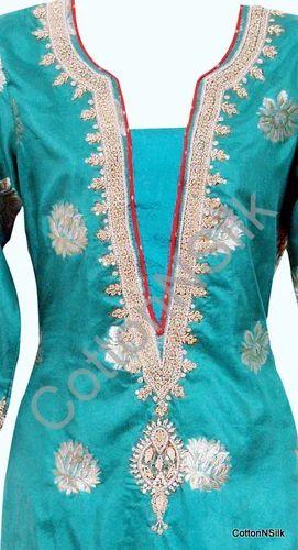 Zardozi Work Silk Suit