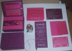 Glass Bottled Wedding Invites In Matching Boxes