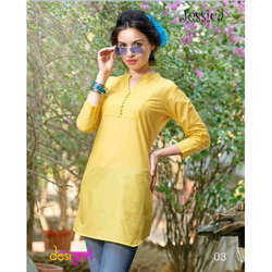 Fancy Yellow Kurti