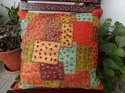 Hand Embroidered Patchwork Cushion Cover
