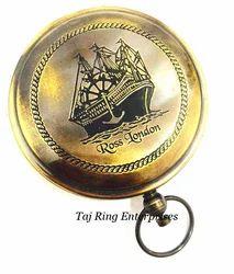 Ross London Nautical Push Button Compass