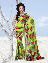 Georgeete Saree with Lace Saj-4000