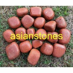 red sandstone pebbles
