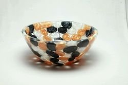 Prayosha Round Black Golden White Pebbles Washbasin