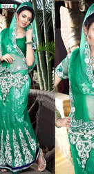 Beautiful Work On Net Designer Saree