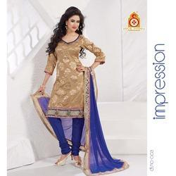 Designer Embroidery Churidaar Kameez Suit