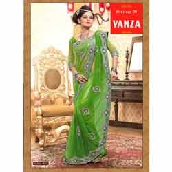 Latest Green Designer Saree