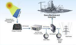 industries on grid solar pv system