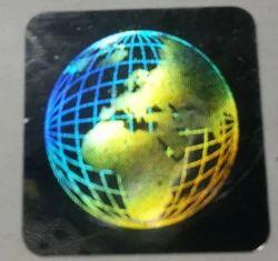 3D Earth Hologram Label