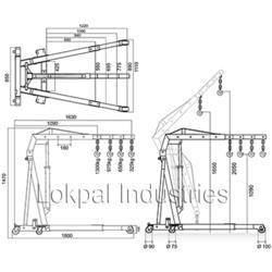 hydraulic engine crane t3200e