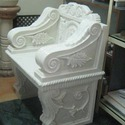 Hand Carved Marble Sofa