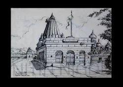 temple landscape paintings