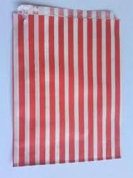 Striped Paper Bags for Candy Stores, Cake Shops