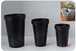 Black Round Flower Pot