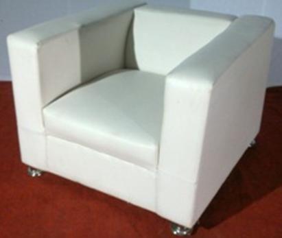 Ordinaire White Single Seater Sofa (Box Type)