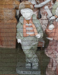 Marble Stone Handmade Child Figure