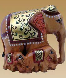 Family Elephant Statue