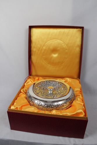 Imported White Metal Dry Fruit Box