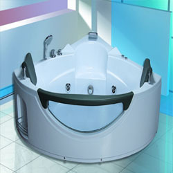 Corner Twin Seater Whirlpool Bathtub