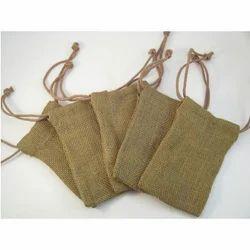 Jute Drawstring Small Bags