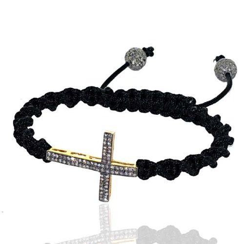 Diamond Cross Macrame Bracelet Jewelry