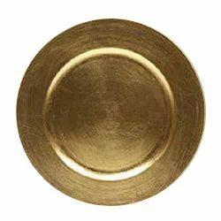 Brass Metallic Charger Plates