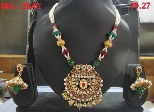 Kundan & Red Green Moti Sets