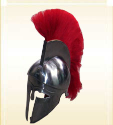 Corinthian Helmet With Red Plume