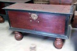 Vintage Teak Wood Trunk