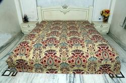 New Cotton Kantha Mughal Bed Cover Queen Size